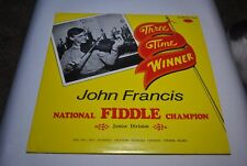 John Francis - National Fiddle Champion Junior Division 1970-1972