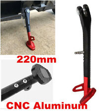 220mm Black/Red Motorcycle Non-slip Kickstand Side Stand Leg Prop Universal