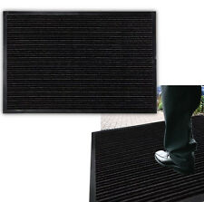LARGE SAFETY RECTANGLE FRONT BACK RUBBER DOOR MAT FLOOR INDOOR OUTDOOR ANTI-SLIP