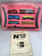N SCALE BACHMANN TRAIN SET #4006 1500 Santa Fe Set w F9 Diesel Box Damage