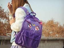 Girls Harajuku Sailor Moon Luna Cat Bag Backpack Collectibles Purple Backpack