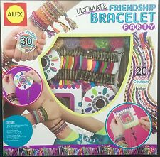 Ultimate Friendship Bracelet Party Kit By Alex 20 Floss Colors Looms Beads Charm