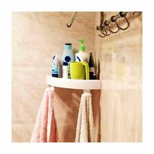 Bathroom Corner Shelf Shampoo Holder Caddy Plastic Snap Up Shower Walls Storage