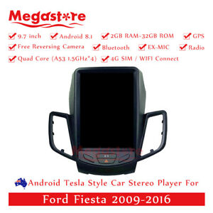 """9.7"""" Android Tesla Style Non-DVD Car Player GPS For Ford Fiesta 2009-2016"""