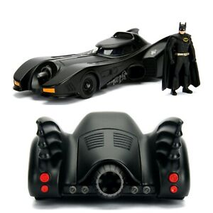 1/24 Jada Batmobile 1989 + Figurine Batman Neuf Livraison Colissimo Domicile