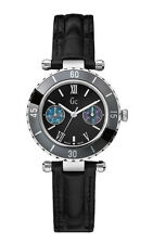 Guess GC 24001L2 Diver Chic Women's Watch - Leather Wrist Band Black