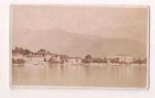 Vintage CDV Panorama Town of Baveno, Lake Maggiore Italy