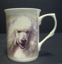 Poodle White Dog Fine Bone China Mug Cup Beaker