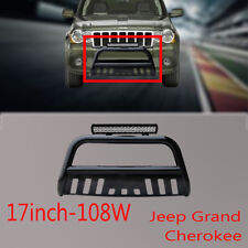 Jeep Grand Cherokee Nudge Bar Black Grille Guard11-17+108W CREE LED Light+Wiring