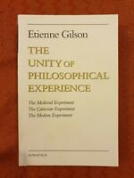 The Unity of Philosophical Experience by Etienne Gilson (English) Paperback Book