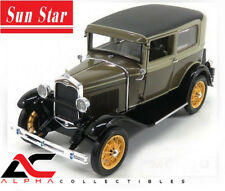 SUNSTAR SS-6103 1:18 1931 FORD MODEL A TUDOR CHICLE DRAB / ARABIAN SAND TOP