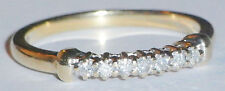 9ct Gold .15ct Diamond Half Eternity Ring,Size N,CHRISTMAS DECEMBER SALE PRICE