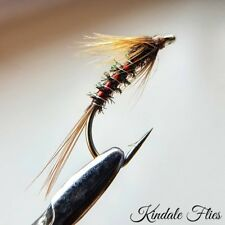 Red Holo / Silver Cruncher size 10 (Set of 3) Fly Fishing Flies Trout Peacock