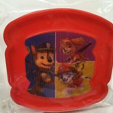 Paw Patrol Nickelodeon Sandwich Saver Container BPA Free. Color RED.
