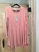 Anthropologie She + Sky Blush Dusty Pink Dress M Soft New Nwt Tunic Asymmetrical
