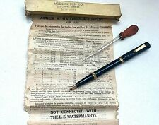 Antique A.A.Waterman Eyedropper FP w/Pipette, Box & Papers 1900/05,NOS!! #AR3359
