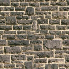 4 SHEETS textured EMBOSSED BUMPY stone wall 20x28cm each oo 1/72 gauge