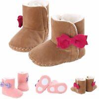prewalker du cuir chaussures de bébé bowknot fond mou bottes d'hiver chaud
