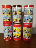 Rare 1969 Lot 6 Diff Sunday Funnies Blondie Vintage Comic Strip  Soda Pop Can