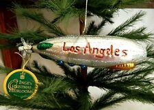 Inge's Christmas Heirlooms  Los Angeles  Zeppelin Blimp Glass Ornament Germany