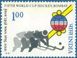 India 1981 5th World Cup Hockey Championship, Bombay Stylised Player Stamp