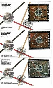 United Nations 1994 Natural Disaster Reduction Set of 3 FDCs - All 3 Offices