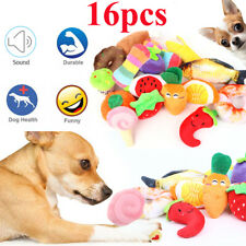 16pcs Squeaky Dog Toys Pet Puppy Plush Sound Chew Toy Set for Small Dogs Cats