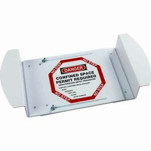 Danger Confined Space Manhole Sign Brady 43748 *NEW* Adjustable Visual Warning