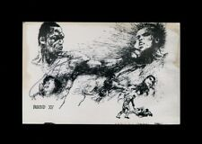RARE 1975 MUHAMMAD ALI  vs. JOE FRAZIER Signed Boxing Postcard PC Cassius Clay