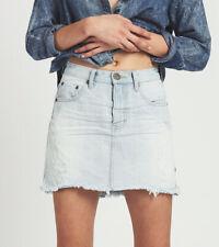 One Teaspoon Womens Brando 20753 Skirt Hight Waist Light Blue Size 26