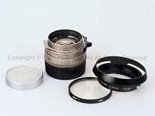 Leica Leitz 35mm f/1.4 Summilux-M Titanium 35/1.4 + 12504 Hood + Filter + Caps