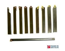 *SPECIAL* Complete 8mm Lathe Tool Set with Carbide Inserts British Made Quality