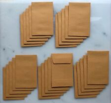 "Lot of 25 No.1 Kraft Manila Coin Envelope 2-1/4"" x 3-1/2"" 28lb. Stock"