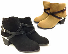 Atmosphere Ankle Boots Faux Suede Shoes for Women