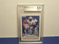 1990 Fleer Rookie Card #284 Barry Sanders Detroit Lions BGS 8.5 NM-MT