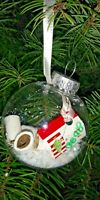 EMERGENCY TOILET PAPER CHRISTMAS TREE ORNAMENT HAND CRAFTED