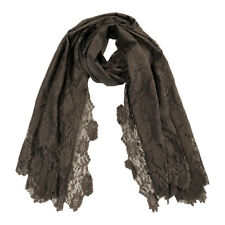 Brown Lace Scarf