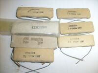 Mixed lot flat ceramic cement sand power resistor NOS radio shop