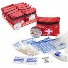 SMALL FIRST AID KIT ZIPPED BELT POUCH MINI HANDY SIZE 38pc 1ST CYCLING RUNNING.