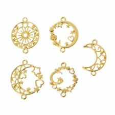 5Pcs Moon Star Metal Frame Connector Bezel Blank Setting UV Resin Jewelry Making