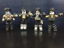Kiss Gene Simmons Paul Stanley Ace Frehley Minimates Set Loose Complete Love Gun
