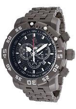 New Mens Invicta 14281 Sea Base Chronograph Black Dial Gunmetal Watch