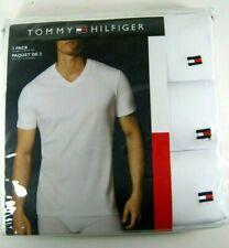 Tommy Hilfiger MEN's 3Pk V-neck Or Crew T-Shirts Undershirt 100% Cotton S M L XL