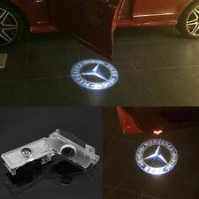 2x Benz blue Logo LED laser Projector door light For Mercedes-Benz CLS CLA C207