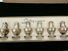 Sterling silver salt and pepper shakers national