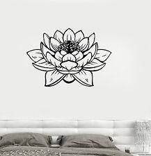 Vinyl Wall Decal Lotus Blossom Flower Yoga Studio Buddha Stickers (ig3233)