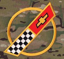 """CORVETTE RACE TEAM '84-'96 Corvette C4 FRONT HOOD NOSE EMBLEM LOGO 9.5"""" (Gold)"""