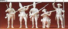 Preiser 57811 Prusse 1756 Dans La Fusillade échelle 1:24 5 figurines non-peintes