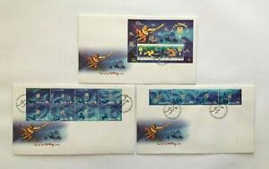 CIFD68) Christmas Island 2004 Year of the Monkey FDC (3 covers)