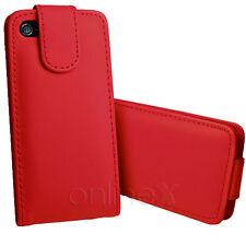 Carcasa Piel para Iphone 5  Rojo  a1100